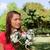 schauen · Seite · halten · Haufen · Blumen - stock foto © wavebreak_media