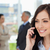 jeunes · femme · d'affaires · parler · téléphone · portable · sourire - photo stock © wavebreak_media