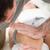 ciddi · top · el · masaj · diz - stok fotoğraf © wavebreak_media