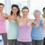 women gesturing thumbs up in the yoga class stock photo © wavebreak_media