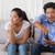 счастливым · пару · диване · играет · Видеоигры · домой - Сток-фото © wavebreak_media