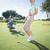 felice · golfista · verde · buco - foto d'archivio © wavebreak_media