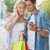 hip young couple looking at smartphone on shopping trip stock photo © wavebreak_media