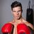 portre · ciddi · kas · boksör · beyaz · spor - stok fotoğraf © wavebreak_media