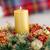 christmas · wieniec · Świeca · tabeli · wakacje - zdjęcia stock © wavebreak_media