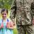katona · zászló · elöl · kilátás · férfi · kék - stock fotó © wavebreak_media