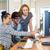equipe · de · negócios · trabalhando · laptop · reunião · projeto · equipe - foto stock © wavebreak_media