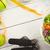 egészséges · életmód · fa · asztal · étel · üveg · egészség · asztal - stock fotó © wavebreak_media