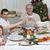 famiglia · bere · toast · Natale · cena · home - foto d'archivio © wavebreak_media