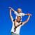 homem · piggyback · ao · ar · livre · sorridente · feliz - foto stock © wavebreak_media