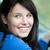 fényes · női · sofőr · ül · autó · mosolyog - stock fotó © wavebreak_media