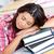 fáradt · ázsiai · diák · alszik · könyvek · konyha - stock fotó © wavebreak_media