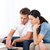 desperate couple doing their account sitting on the sofa of the living room stock photo © wavebreak_media