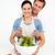 szczęśliwy · kobieta · Sałatka · chłopak · kuchnia · domu - zdjęcia stock © wavebreak_media