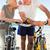 Retired couple with their bikes on the beach stock photo © wavebreak_media