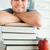 glimlachend · mannelijke · student · boeken · gezicht - stockfoto © wavebreak_media