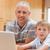 padre · aiutare · figlio · compiti · per · casa · uomo · lavoro - foto d'archivio © wavebreak_media