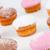 elmosódott · muffinok · porcukor · fehér · háttér · eszik - stock fotó © wavebreak_media