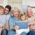 feliz · nieto · abuela · casa · casa - foto stock © wavebreak_media