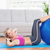 cheerful fit blonde doing sit ups with exercise ball stock photo © wavebreak_media