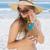 kadın · hasır · şapka · beyaz · güzellik · elbise - stok fotoğraf © wavebreak_media