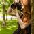 portré · gyönyörű · női · fotós · fehér · boldog - stock fotó © wavebreak_media