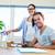 sorridente · parceria · negócio · computador · feliz - foto stock © wavebreak_media