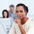 Confident businesswoman asking for silence stock photo © wavebreak_media