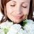 肖像 · 笑顔の女性 · 花 · 孤立した - ストックフォト © wavebreak_media