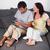 souriant · couple · tapis · jouer · jeux · vidéo · maison - photo stock © wavebreak_media