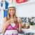 pozitív · fiatal · nő · választ · nyaklánc · mosolyog · kamera - stock fotó © wavebreak_media
