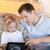 父から息子 · タブレット · ソファ · 一緒に · 家族 · インターネット - ストックフォト © wavebreak_media