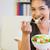 взрослый · женщину · здоровое · питание · Салат · продовольствие · томатный - Сток-фото © wavebreak_media