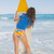 uygun · sörfçü · kız · ayakta · plaj · sörf - stok fotoğraf © wavebreak_media