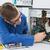 technicien · travail · brisé · cpu · tournevis · bureau - photo stock © wavebreak_media