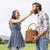 couple · panier · pommes · femme - photo stock © wavebreak_media