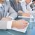üzleti · csapat · jegyzetel · konferencia · iroda · víz · üveg - stock fotó © wavebreak_media