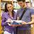 улыбаясь · учебник · книжный · шкаф · университета - Сток-фото © wavebreak_media