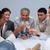 sobremesas · champanhe · reunião · participantes · reunião · de · negócios · conferência - foto stock © wavebreak_media