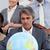zakenlieden · rond · wereldbol · kantoor · business · handen - stockfoto © wavebreak_media