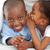 adorable little girl whispering something to her brother stock photo © wavebreak_media