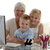 feliz · ninos · abuela · casa · casa - foto stock © wavebreak_media