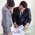 negocios · reunión · gente · de · la · oficina · de · trabajo · documento · oficina - foto stock © wavebreak_media