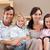 Cute · семьи · Смотря · телевизор · вместе · гостиной · домой - Сток-фото © wavebreak_media