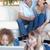 Porträt · Eltern · beobachten · Kinder · mit · Laptop · Wohnzimmer - stock foto © wavebreak_media