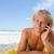 jóvenes · hombre · playa · hablar · teléfono - foto stock © wavebreak_media