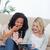 kettő · meglepődött · fiatal · nők · ül · lefelé · olvas - stock fotó © wavebreak_media