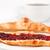 croissant · koffiekopje · tabel · voedsel · koffie · Rood - stockfoto © wavebreak_media