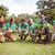 boldog · barátok · kertészkedés · közösség · napos · idő · virágok - stock fotó © wavebreak_media