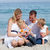 caring mother with her family holding sunscreen stock photo © wavebreak_media